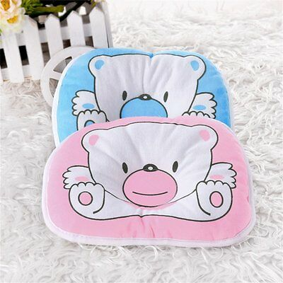 Bear Pattern Pillow Newborn Infant Baby Support Cushion Pad Prevent Flat Head BG