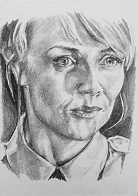 Original ACEO Pencil Sketch Card - Stargate SG-1 Samantha Carter