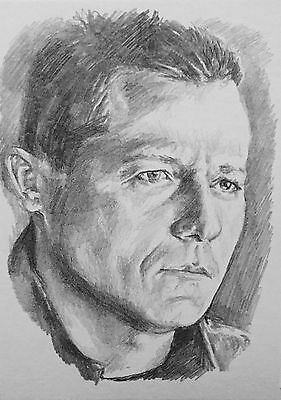 Original ACEO Pencil Sketch Card - Stargate SG-1 Jonas Quinn