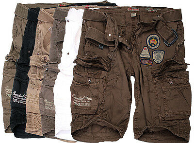 geographical norway Herren Cargo shorts knielanglang short bermuda gürtel shorts