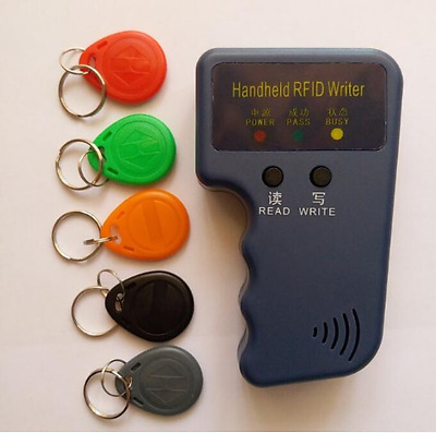 Handheld 125Khz RFID Card Copier Duplicator and 5 EM4305 writable keys