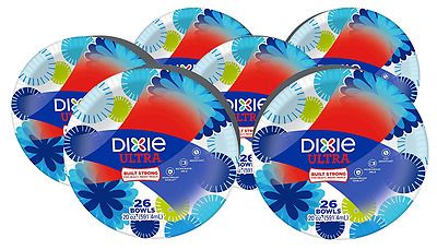 Dixie Ultra 20oz Paper Bowl, 26 Count (Pack of 6)