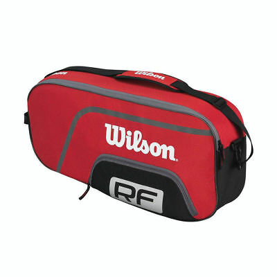 Wilson Roger Federer Team Shoulder Strap Carry Bag for 3 Tennis Racket/Racquets