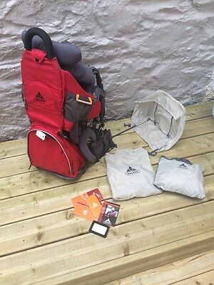 Vaude Swing Baby/Child Carrier Backpack Red & Grey Hiking Walking