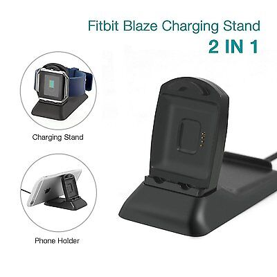 2 in 1 Plastic Bracket Charger Charging Stand Charging Dock For Fitbit Blaze