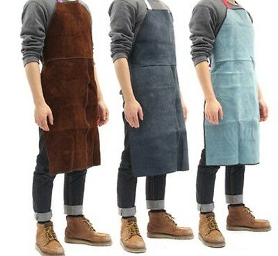 Welding Equipment Welder Heat Insulation Protection Apron Cow Leather 60x90cm