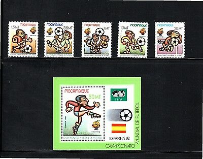 Mozambique 1982 World Cup Football Championships Spain SG 946/950 MUH