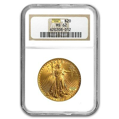 SPECIAL PRICE! $20 Saint-Gaudens Gold Double Eagle Coin - MS-62 NGC