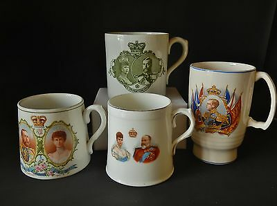 Sellection Of Royal Mugs + George V  Edward  Viii   Two Royal Doulton