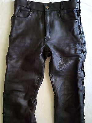 "Germot Men's Classic Motorcycle Pants Size EU 56 W36"" Black"