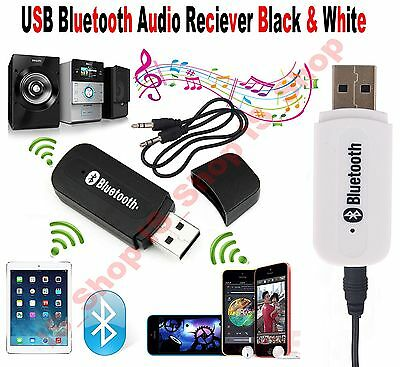 Wireless Bluetooth 3.5mm Audio USB Receiver Adapter Music Dongle AUX A2DP Car