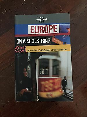 Lonely Planet Used Europe On A Shoestring Travel Guide Book Aus Stock