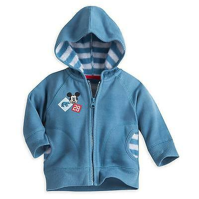 Disney Store Mickey Mouse Fleece Hoodie Coat for Baby Boys Size 3-6 Months NEW