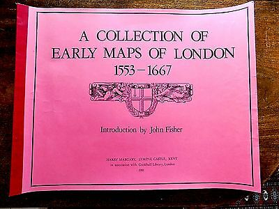 1553-1667 Early Maps London Margary Quality Facsimile 21 Large Sheets Hollar et
