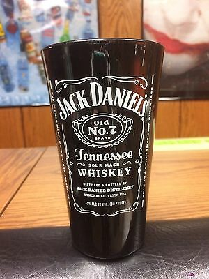Rare Jack Daniels Whiskey Cocktail Tall Glass From Mexico -No Green Gold