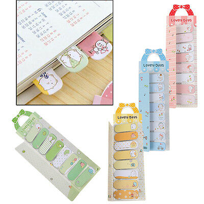 2/4x Sticky Notes Adhesive Page Markers Paper Filing tabs Index Flags 45x14mm