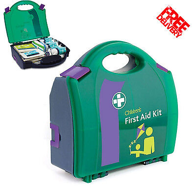 First Aid Medical Child Care Emergency Basic Kit Home Office Travel Carry Case