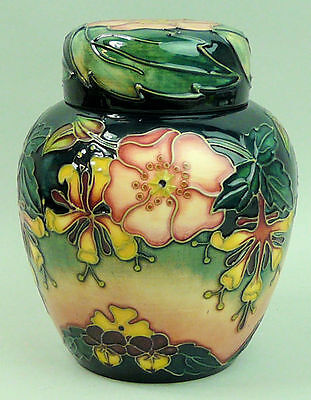 A Fine Moorcrft Art Pottery Silver Line 'oberon' Ginger Jar Circa 1998