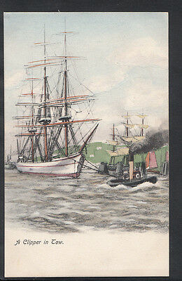 Shipping Postcard - A Clipper In Tow A9736