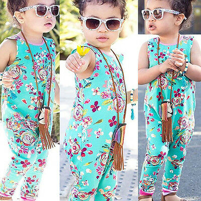 USA Newborn Infant Baby Girl Outfits Romper Jumpsuit Bodysuit Pants Clothes Set