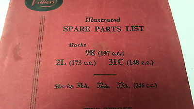 1960 VILLIERS Small Engines Factory Parts Book