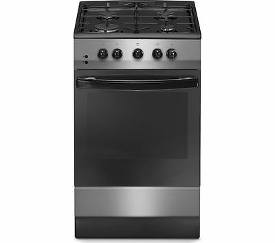 ESSENTIALS CFSGSV15 50 cm Gas Cooker - Silver & Black