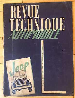 ► Revue Technique Automobile - Jeep - Willys & Ford - 1951