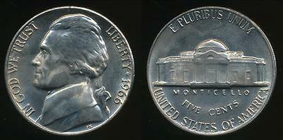 United States, 1966-P 5 Cents, Jefferson Nickel - Uncirculated