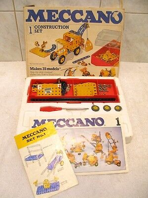 Meccano Construction Set Number 1