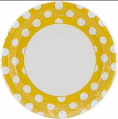 Yellow Polka Dot Spotty Tableware Paper Plates Party BBQ Weddings Baby Shower  sc 1 st  PicClick UK & YELLOW POLKA DOT Spotty Tableware Paper Napkins Party BBQ Weddings ...