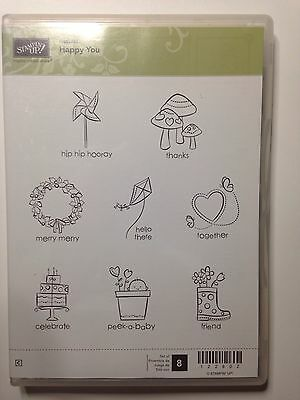 As New STAMPIN Up Hostess Foam Mount HAPPY YOU STAMP Set Retired