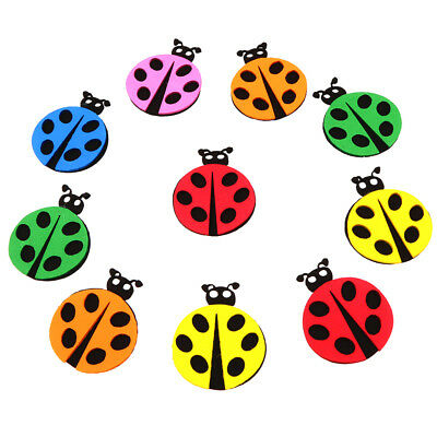 10pcs Creative Colorful Self Adhesive Ladybird Foam Shapes for Arts Crafts