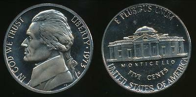 United States, 1973-S 5 Cents, Jefferson Nickel - Proof