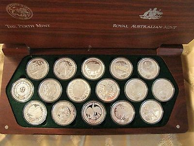 Sydney 2000 olympic Silver Coin Set 16 x $5 (16oz of Silver)