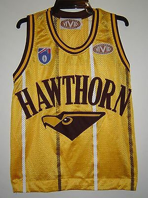 Hawthorn Hawks Vintage Basketball Style Jersey - Good Condition - Adult Size