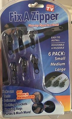 1pc/6Pcs Fix A Zipper Zip Slider Repair Instant Kit Removable Rescue Replacement