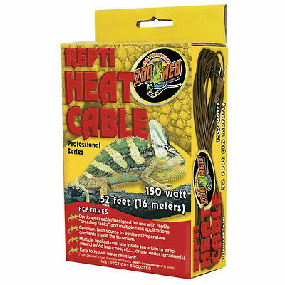 Zoo Med Repti Heat Cable for spiders, hatchling snake racks and soil warming