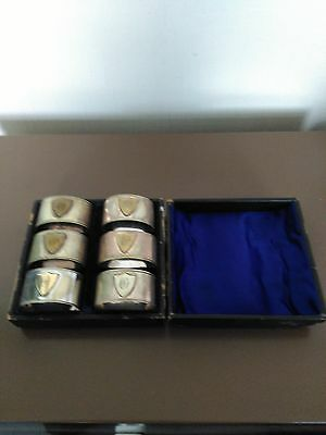 Silver Plated Napkin Rings Cased 6