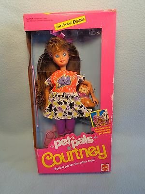 1991 Pet Pals COURTNEY DOLL + Sweet Kitty and Accessories MATTEL 2710  *NRFB*