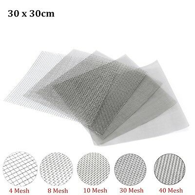 Stainless Steel Woven Wire Mesh (filter grading sheet) Metal Silk Heavy Gauze UK