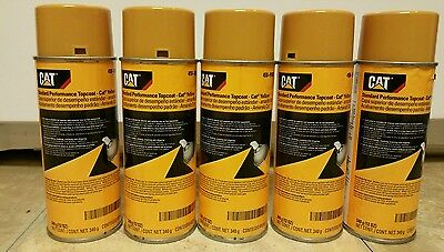 Five (5) Cans genuine OEM Caterpillar CAT Yellow Spray Paint 458-9587 implement