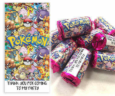 POKEMON Mini Love Hearts Sweets Party Bag Fillers Kids Childrens Partys