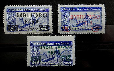SPAIN - Stamps SET - HABILITADO - Mint MNH -  r54b2101