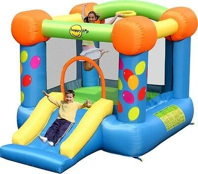 Duplay 9ft x 7ft Party Slide and Hoop Bouncer Bouncy Castle - 9070