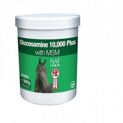 NAF Glucosamine 10,000 Plus with MSM 900g - Joint Supplement for Horses &Ponies