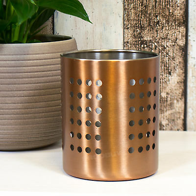 Copper Rose Gold Cutlery Storage Caddy Box Tray Organiser Holder Kitchen Utensil