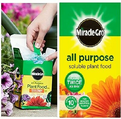 Miracle Grow 1 kg All Purpose Soluble Plant Food Carton Grows Plants Twice Can