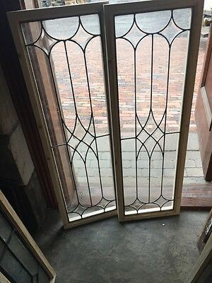 Sg 1428 2 Available Price Separate Antique Leaded Glass Transom Window Beveled