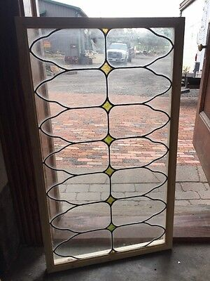 Sg 1429 Antique Leaded Glass Transom Window 22 X 38