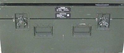 Lot of 3 US Military Aluminum Hard Cases with Foam, 39 x 22 x 16